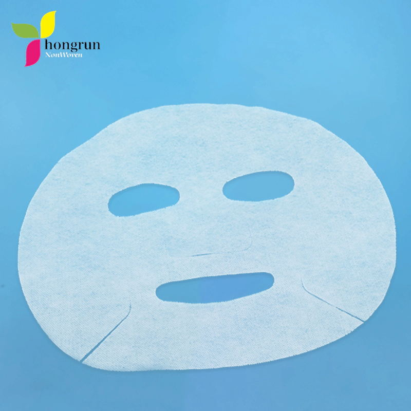 Hot Sell DIY Facial Mask Nonwoven Fabric Disposable Dry 50gsm White Facial Mask Sheet