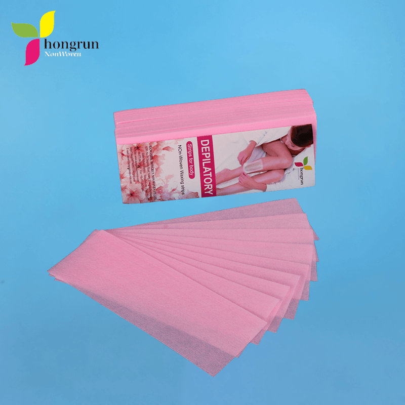 Nonwoven Fabric 100% Polyester Disposable Depilatory Pink Hair Removal Wax Strips