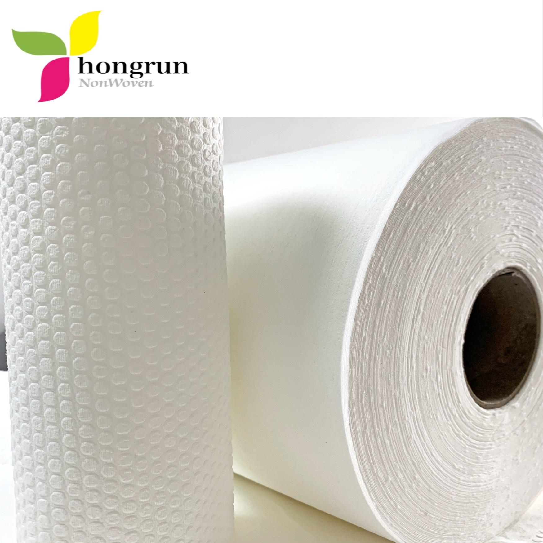 PP wood pulp composite spunlace non-woven fabric