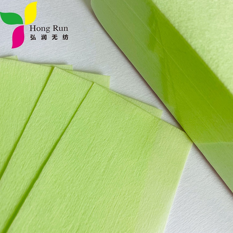 Disposable Depilatory Green Hair Removal Wax Strips